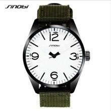 SINOB Top Marca de Lujo Para Hombre Reloj Militar Hombres Deportes Reloj de Cuarzo Ocasional de Lona Del Ejército Impermeable Reloj Relogio masculino