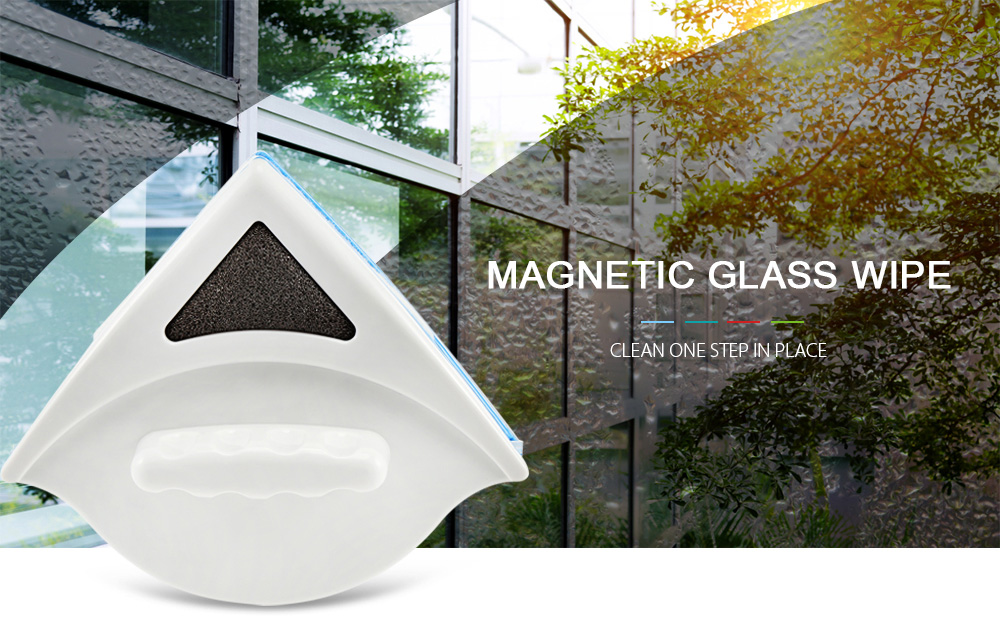 Household Double-Sided Magnetic Glass Wipe Brush And Glass Cleaner For Washing Windows 1
