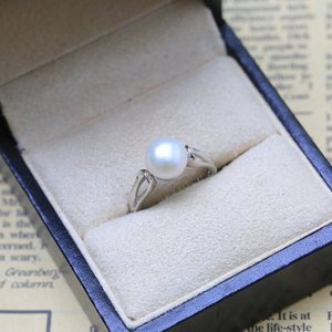 Image 3 - BaroqueOnly 2018Fashion Pearl Ring Jewelry of Silver Oval Natural Freshwater Pearl Rings 925 Sterling Silver Rings for WomenGift
