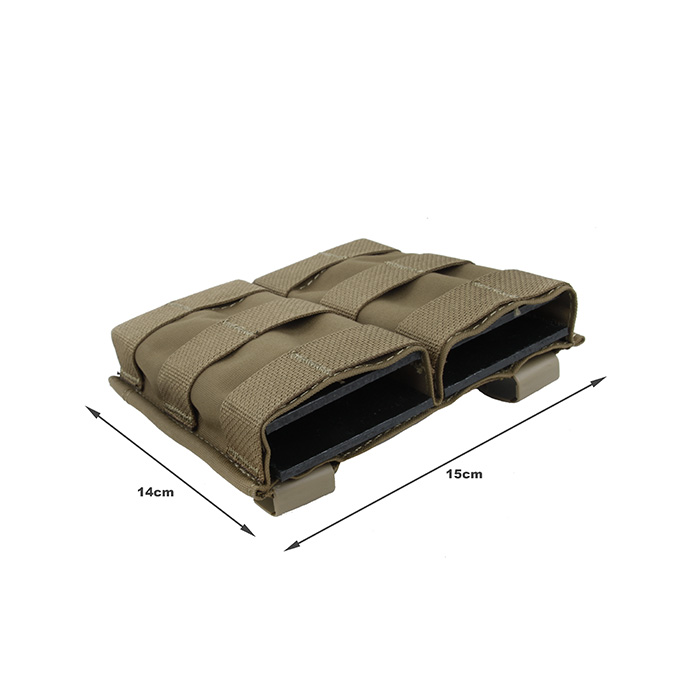 TMC 5.56 Hardshell Insert Double Magazine Pouch Molle Clip Mag Pouch Coyote Brown(SKU051335)