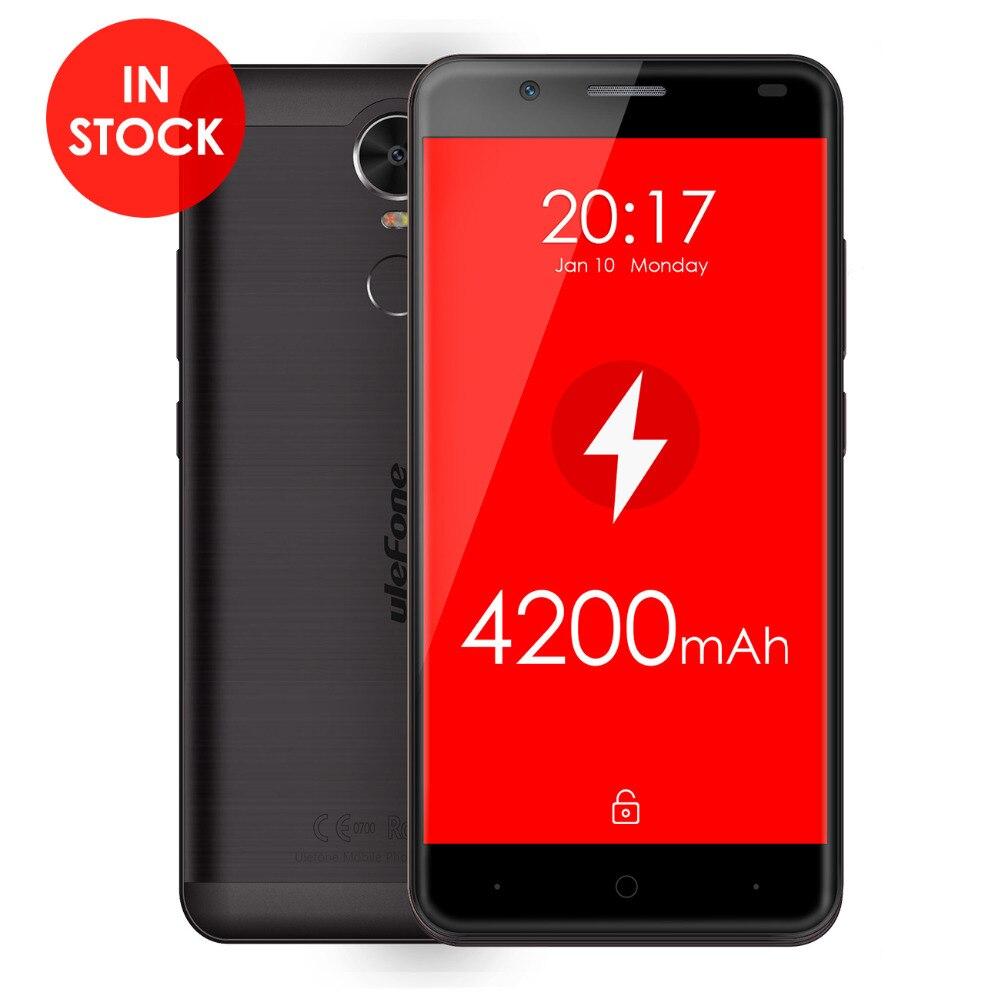 "Цена за 5.5 ""Тигр 4 Г Смартфон Ulefone 2 ГБ RAM 16 ГБ ROM Android 6.0 Quad Core Мобильный Телефон MT6737 4200 мАч матовый Алюминиевый Корпус Телефона"