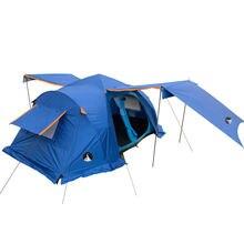 Двойной автоматический палатка на открытом воздухе палатка на открытом воздухе кемпинг палатка 2 спальня 6-10persons два цвета