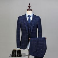 AI Для мужчин хотите Для мужчин Свадьба Пром костюм 2018 Slim Fit Жених костюмы из трех предметов (куртка + жилет + Брюки для девочек) бизнес деловой