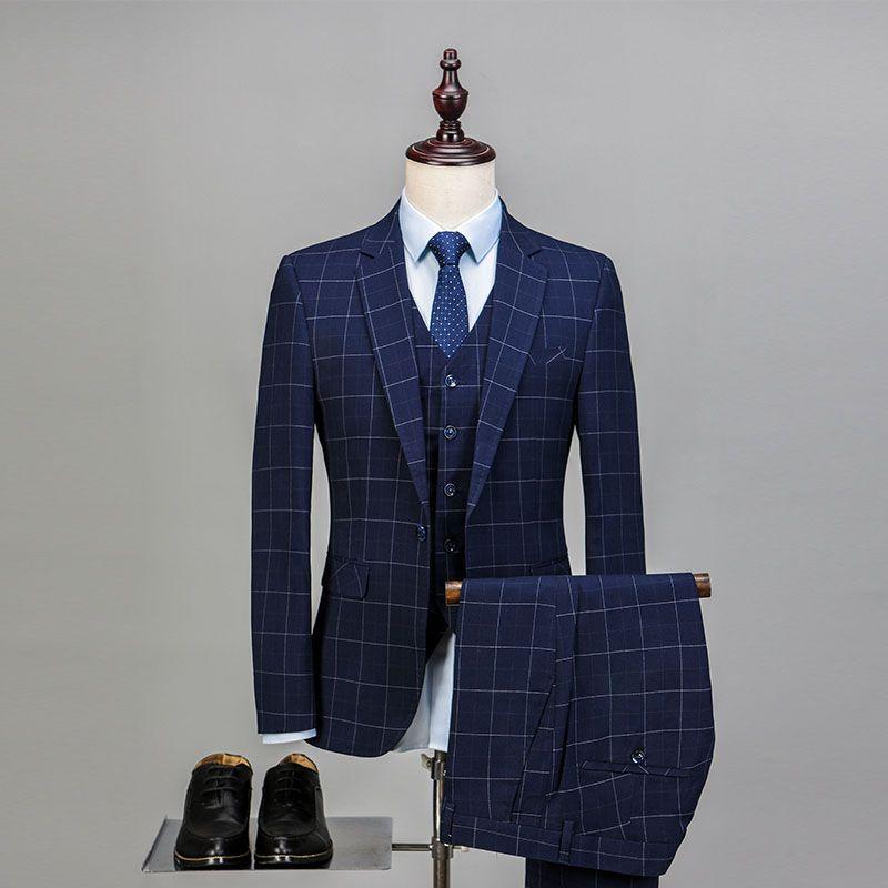 AIMENWANT Mens Wedding Prom Suit 2018 Slim Fit Groom 3pcs Suits (Jacket+Vest+Pants ) Business Formal Blazer Male Work Suit