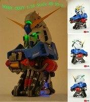 1/35 Scale RX 93 2 Hi V High Nu Gundam Head PVC Action Figures Children's Birthday Gift Collection Handsel Orange Exoskeleton