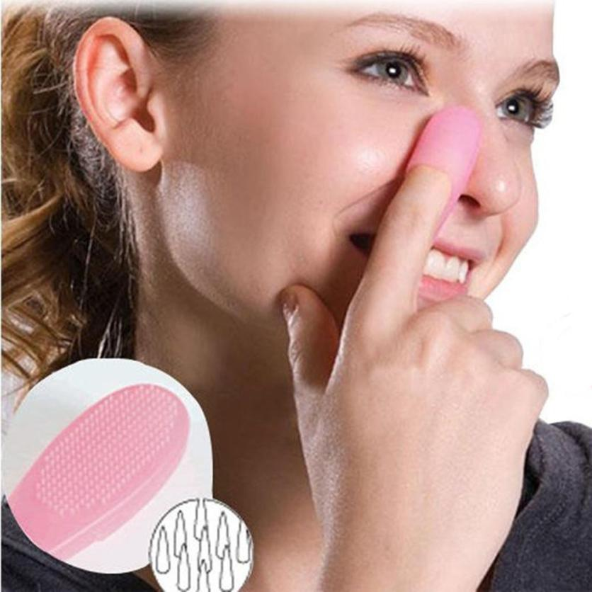New 1PC Hot Pink Plastic Blackhead Brush Face Cleansing Blush Extractor Remover Tool Unisex Practical Powder Brushes Tool se6 deep face cleansing brush facial cleanser 2 speeds electric face wash machine