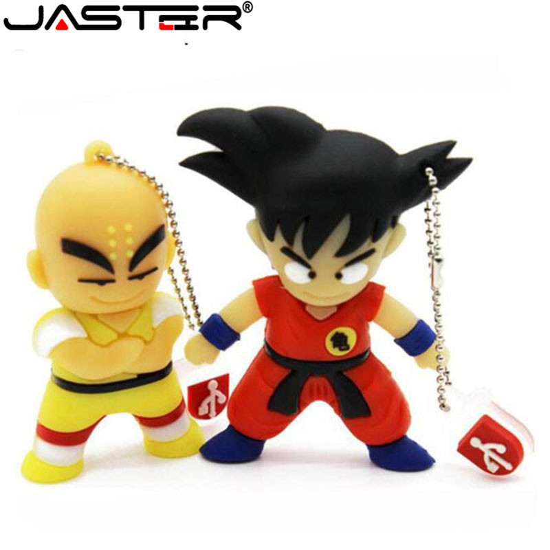 JASTER Pen Drive Cartoon Dragon Ball Goku Monkey King Gift 4gb 8gb 16gb 32gb 64GB Usb Flash Drive Prawn Pendrive Free Shipping