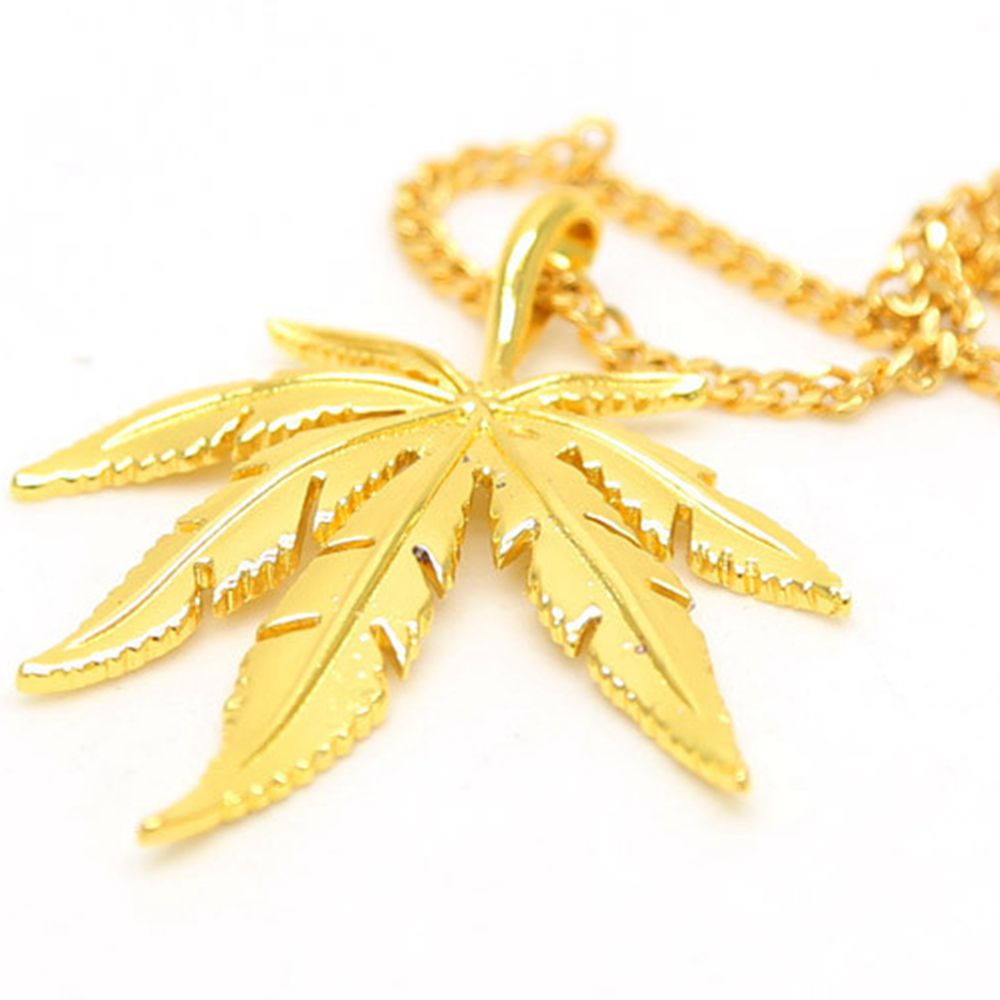 from gold men dance bar accessories bling herb necklaces chains dj filled weed plated hop hip leaf pendants women on gifts in jewelry item
