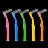 Nowy 20 sztuk TEPE kąt szczoteczki interdentalne, między TeethBraces szczotka do zębów do czyszczenia wysokiej jakości tworzyw sztucznych bezpieczeństwa długotrwałego użytkowania