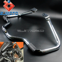 Chrome Highway Mustache Crash Bar Engine Guard For Harley Dyna FXD 2006 2017 Street Bob Fat Bob Low Rider Wide Glide FXDL FXDWG