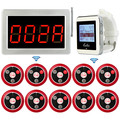 Беспроводной пейджер ресторанная система вызова Голосовая система приема сообщений хост + наручные часы приемник + Кнопка передатчика вызо...