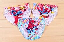 free shipping, Super deal cartoon boys panties 100% cotton children underwear cartoon spider man boys Briefs size:2-7year