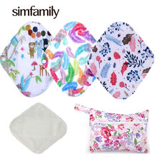 [simfamily] 5+1 Panty Liner Sets Reusable Pure Bamboo Menstrual Cloth Sanitary,Stay Dry Super Absorption Healthy +1 Mini Wet Bag(China)