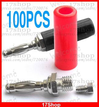 100PCS 4MM banana plug ADAPTER for Binding Post Speaker