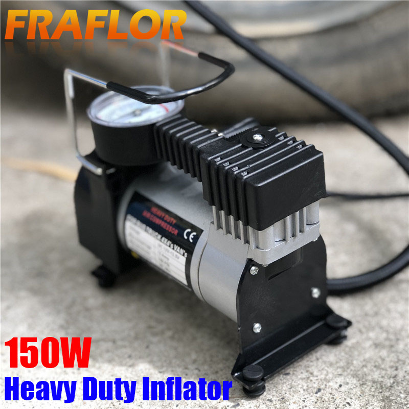 NEW PORTABLE 12V 150PSI HEADY DUTY CAR TYRE INFLATOR AIR PUMP METAL COMPRESSOR