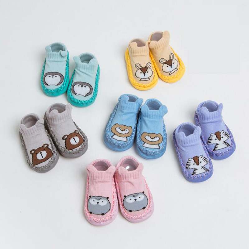New Cute Cartoon Animal Baby Toddler Sock Shoes Floor Non-slip Baby Sock
