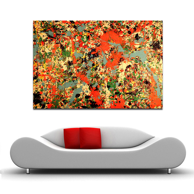 WANG ART Large Scale Abstraction Home Decor Living Room Modern Canvas Print Picture Painting Wall Art