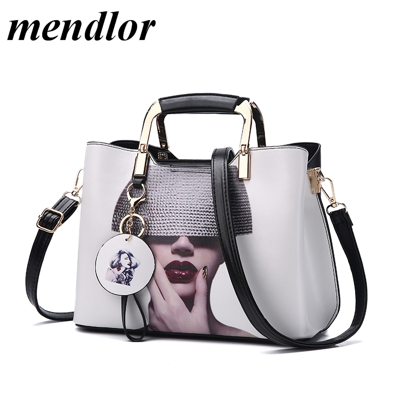 Sac à main femme de marque luxe cuir 2018 bolsa feminina sac à main impression 3D sac à bandoulière pour femme sac à bandoulière borse da donna