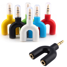 Newest 1Piece U Type Jack 3.5mm To Dual 3.5mm AUX Cable Headphone Seprator Male To Female Stereo Audio Earphone Splitter Adapter