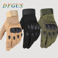 Men's Tactical Gloves Outdoor Sport Military Full Finger Mittens Combat Carbon Fiber Tortoise Shell Guantes Men Tactical Gloves