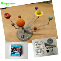 Happyxuan Astronomical Instrument Luminous Ball Diy Assembly Science Experimental Nine Planets Solar System Model Toys