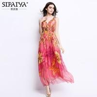 Brand Women Clothes Women Summer Style V Neck Floral Print Long Bohemian Beach Dress Plus Size