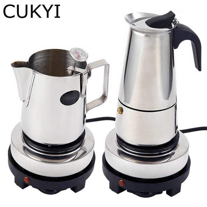 CUKYI براد لصنع الموكا القهوة مخصصة لوحة التدفئة سخان الحليب موقد كهربائي صغير الطاقة قابل للتعديل التحكم في درجة الحرارة الفرن