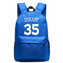 Kevin Durant Canvas Backpack High Quality Boy Girl Large Capacity School Bags For Teenagers Travel Laptop Bag Mochila Escolar недорого