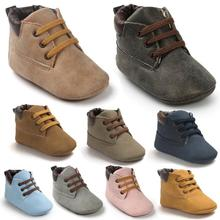 2018 Autumn PU suede Leather Baby moccasins Shoes infant anti slip first walker for newborn boys