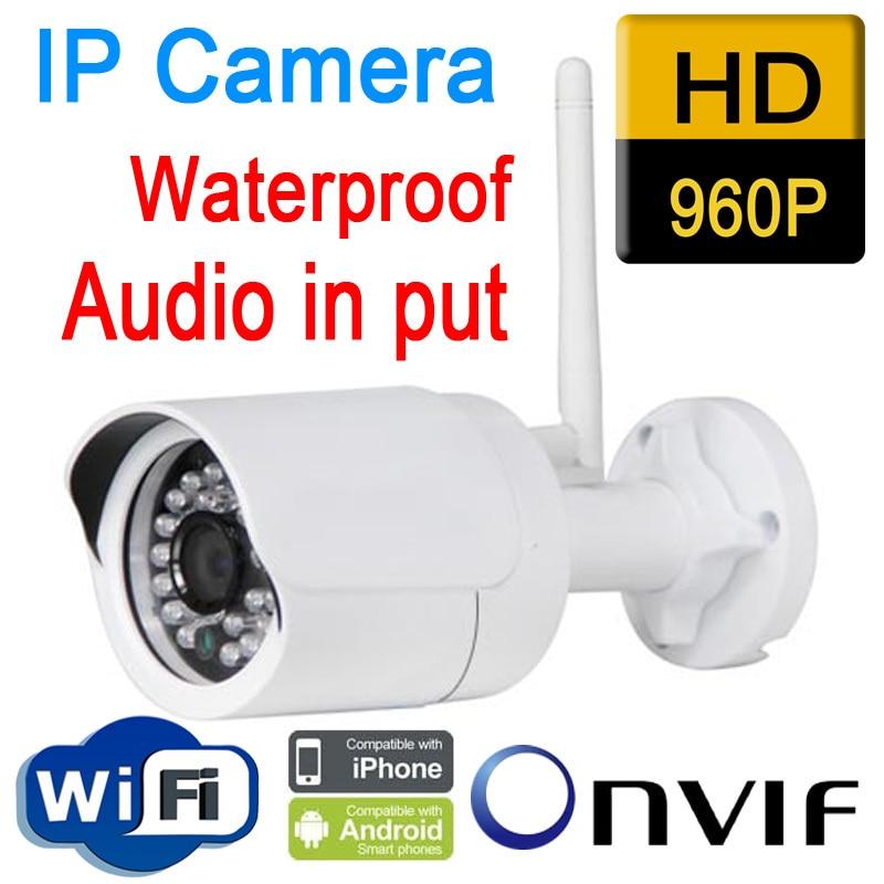 Cctv câmeras de segurança impermeável ao ar livre 960 P 1.3mp câmera ip sem fio wifi ir casa de segurança do sistema onvif áudio de vigilancia