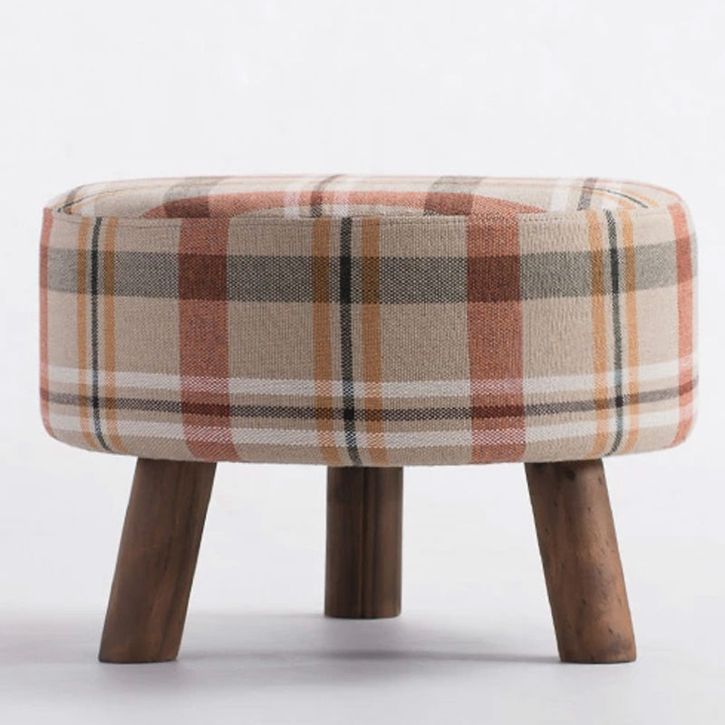 Tela redonda otomano sofá taburete taburete reposapiés muebles para ...