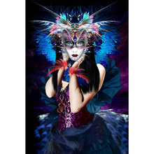 Mask beauty diamond Embroidery diy painting mosaic diamant 3d cross stitch pictures H249