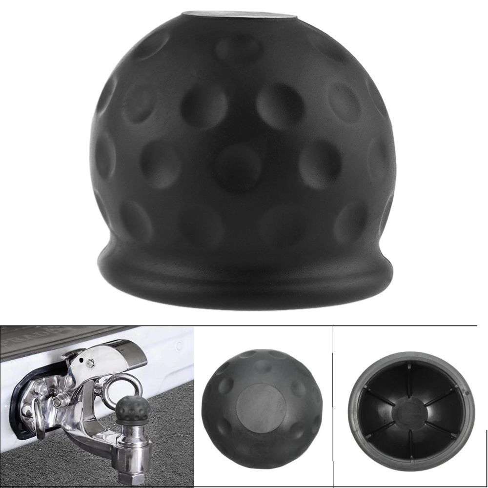 Ansblue 1pcs Universal 50mm Tow Bar Ball Cover Cap Towing Hitch Caravan Protect New Arrival Trailer Towball Protector Hot Sell