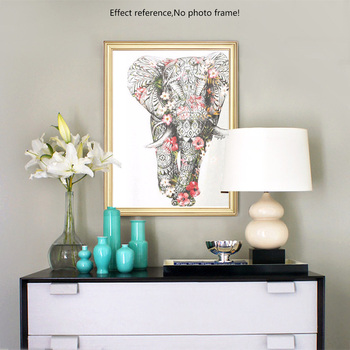 HUACAN 5D DIY Diamond Painting Elephant Diamond Mosaic Picture Of Rhinestones Flower Diamond Embroidery Cross