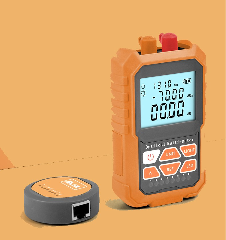 3in1 Optical Power Meter Visual Fault Locator Network Cable Test optical fiber tester 5mw Visual Fault Locator in Fiber Optic Equipments from Cellphones Telecommunications