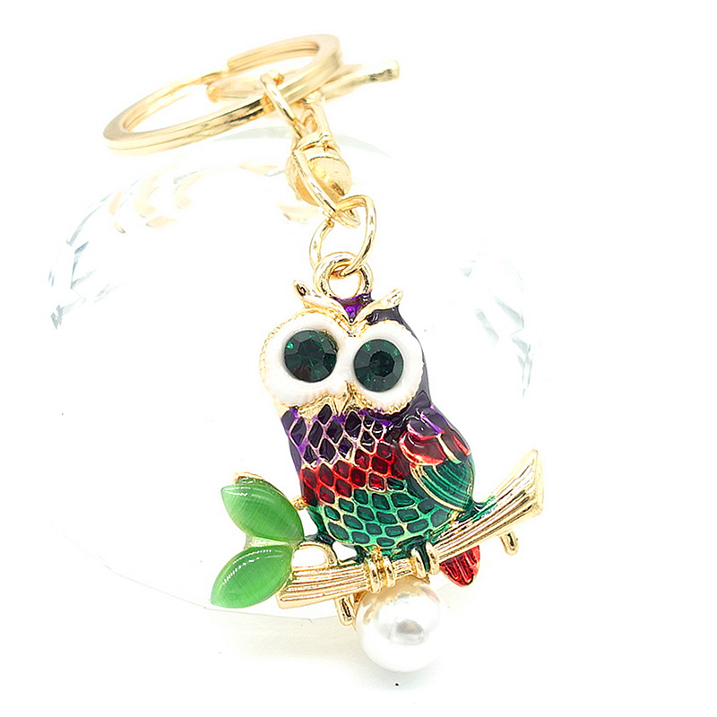 Key Chains Animal Keyring Crystal Charm Pendants Necklace for Purse Bag Gift