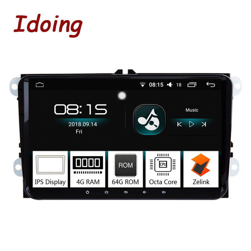 Idoing 92Din Car Android 8.0 Radio Multimedia Player For Skoda Seat Universal IPS Screen 4G+64G Octa Core GPS Navigation TV