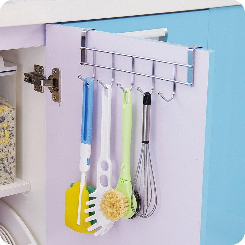 Foodymine 5 Hooks Home Bathroom Kitchen Hat Towel Hanger
