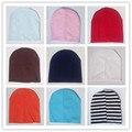 Горячие Продажи Детские Beanies Трикотажные Хлопок дети cap для мальчиков девушки сплошной цвет мягкая шляпа Весна Осень Зима толстые детские шляпа