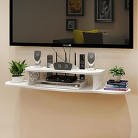 Set top box shelf shelf shelving rack wall hanging living room TV wall partition router storage box LM0118940