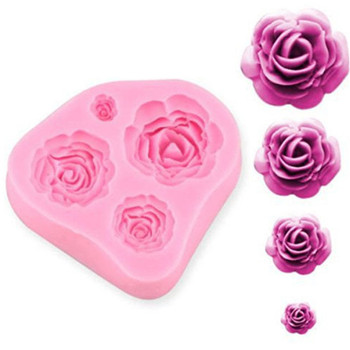 baking pastry tools 3d rose flower silicone soap cake mold for cakes candle fondant chocolate molds cupcake decorating