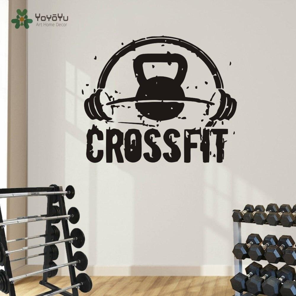 Gym Sticker Motivation Gym Wall Sticker Crossfit Workout Vinyl Decal ...