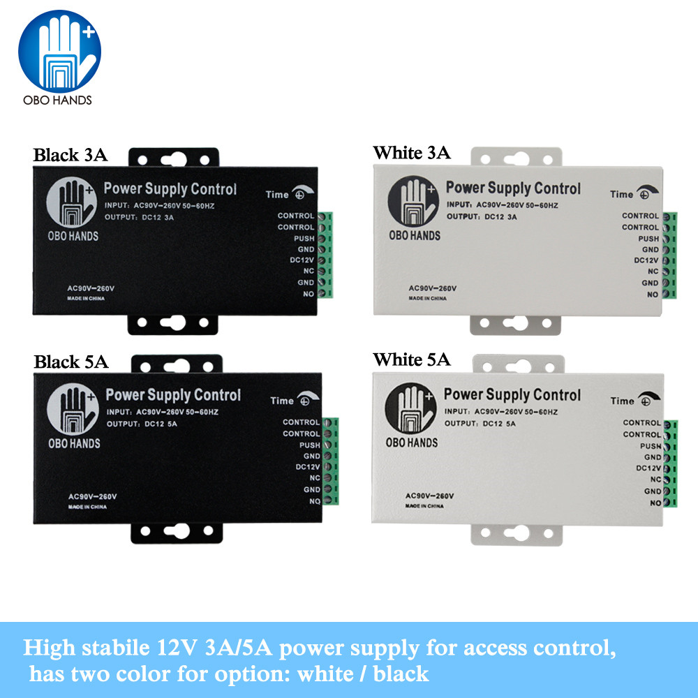 Access Control Power Supply Power Switch Controller DC 12V 3A/5A AC90~260V Input NO/NC Output for All Types Lock with Time DelayAccess Control Power Supply Power Switch Controller DC 12V 3A/5A AC90~260V Input NO/NC Output for All Types Lock with Time Delay