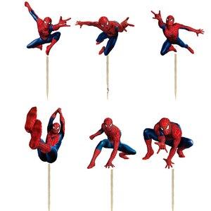 24 шт., вечерние фигурки для кексов из мультфильма, для детей, на день рождения, вечерние принадлежности, свадебные украшения