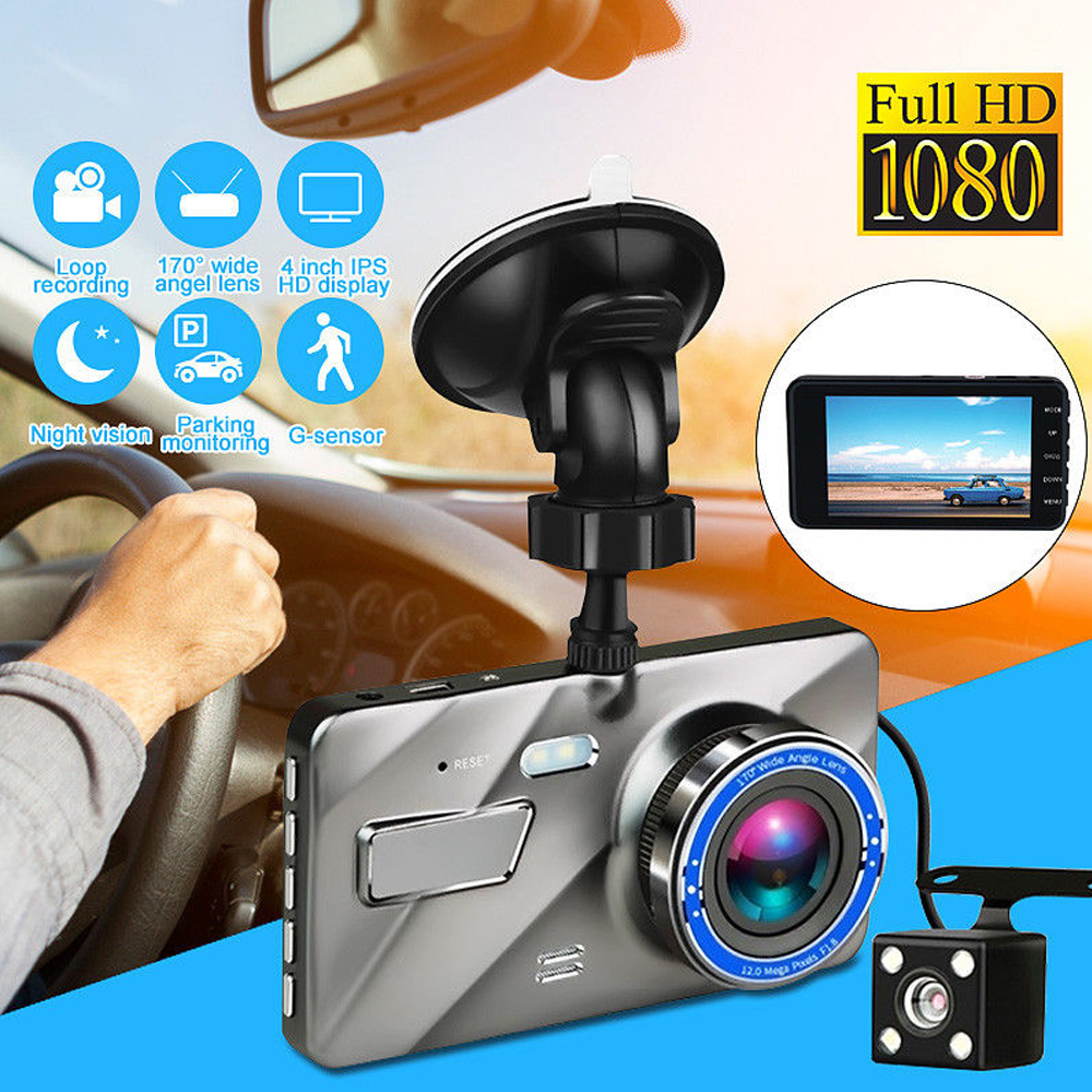 Vehicle DVR Camera Video-Recorder Parking-Monitor Dash-Cam Dual-Lens Night-Vision Front