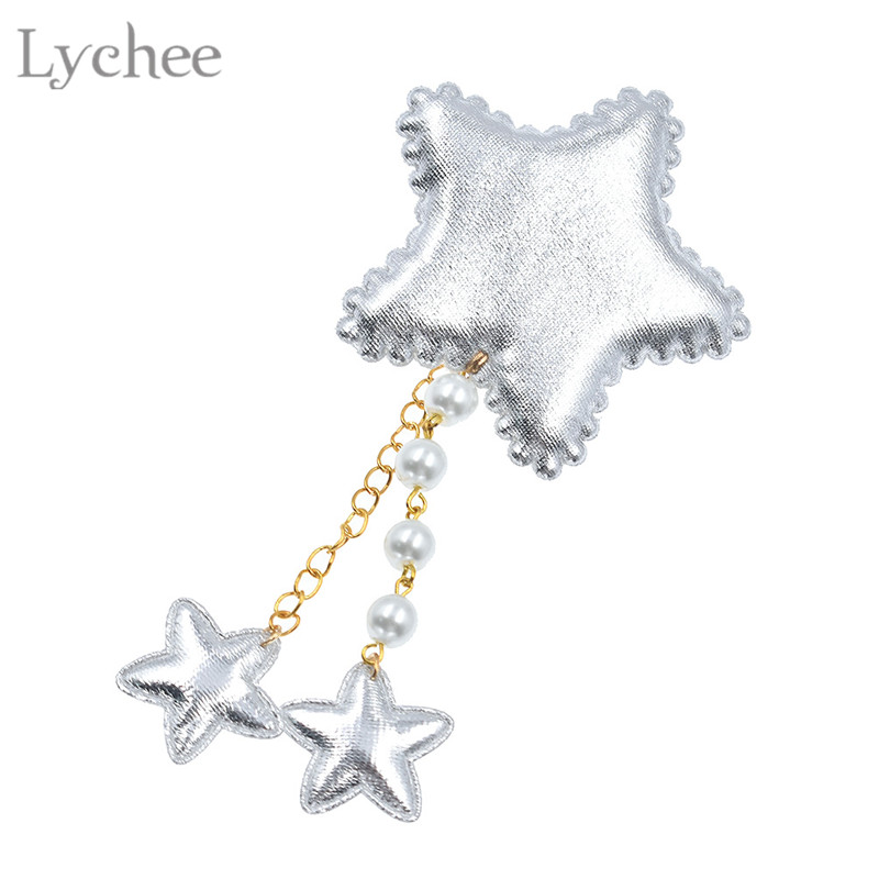 Lychee Lolita Girl Plush Star Hair Clip Cute Lovely Colorful   Headwear   Fashion Women Children Hair Clips Gifts Crafts