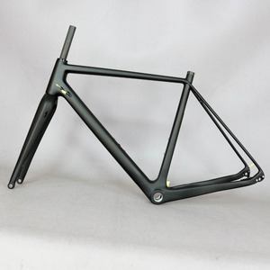 Image 3 - 2021 Thru Axle 142mm disc cyclocross carbon frame  Gravel 700C Carbon Bike Frame, Di2 Carbon Cyclocross Frame with 100*12mm fork