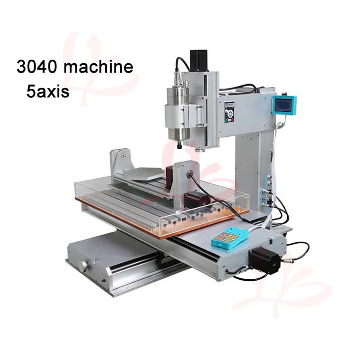 5axis cnc engraving machine 3040 drilling milling router pillar type spindle work for Aluminum, steel, jade and stone etc free tax desktop cnc wood router 3040 engraving drilling and milling machine