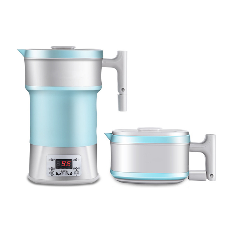 Electric Kettle Silicone Foldable Portable Travel Insulation Hot Water Heating Boiler Adjustable Voltage Tea Pot Milk Heater