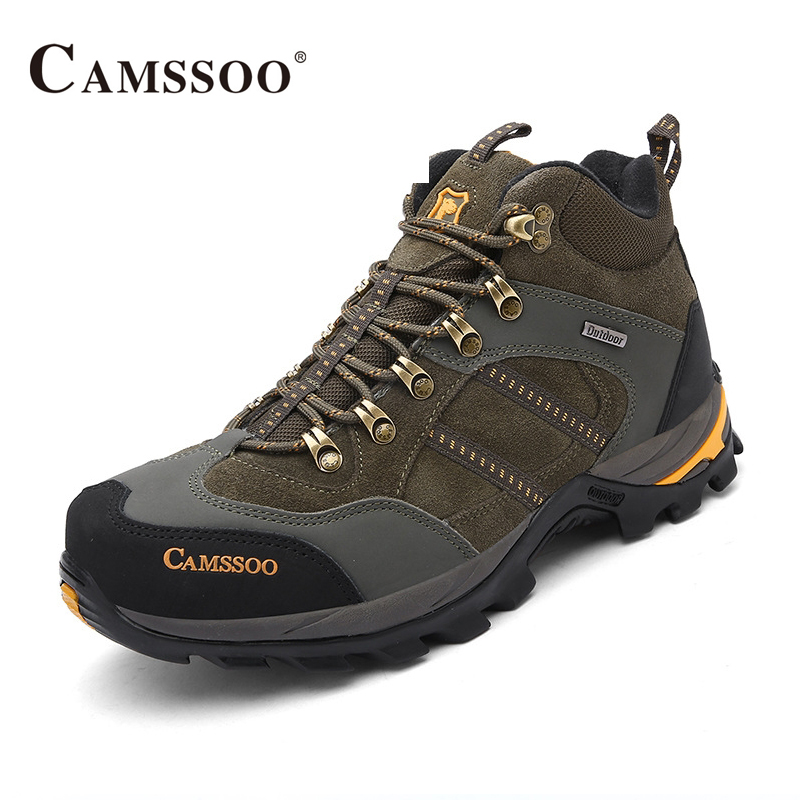 Camssoo Brand Hiking Shoes Men Winter Breathable Sport Sneakers Brand Boots AA50173 kelme 2016 new children sport running shoes football boots synthetic leather broken nail kids skid wearable shoes breathable 49